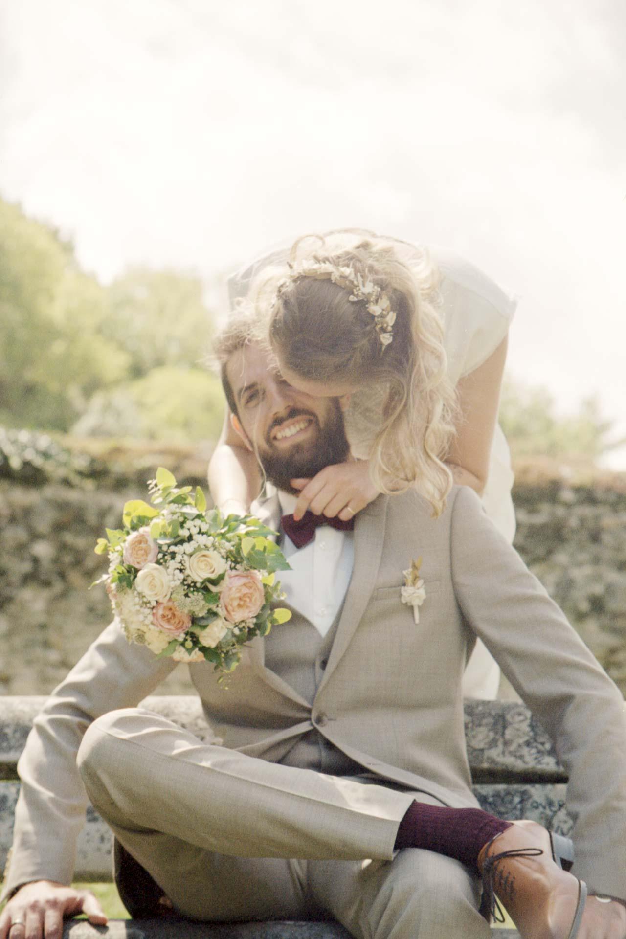 séance couple bouquet